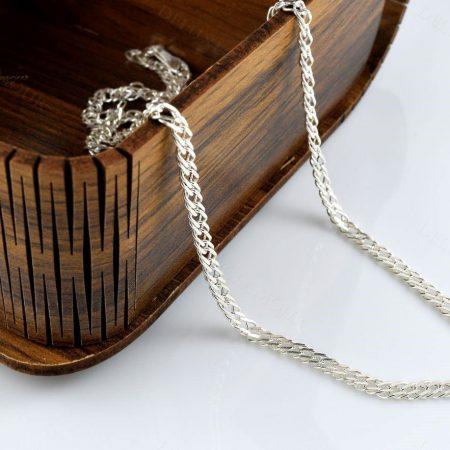 زنجیر مردانه نقره طرح یاس Nw-n240