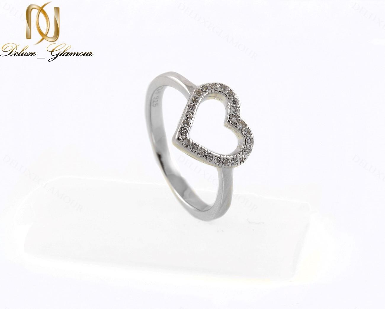 خرید سرویس طرح قلب نقره دخترانه با برلیان اتمی اصل Se-n135 - انگشتر