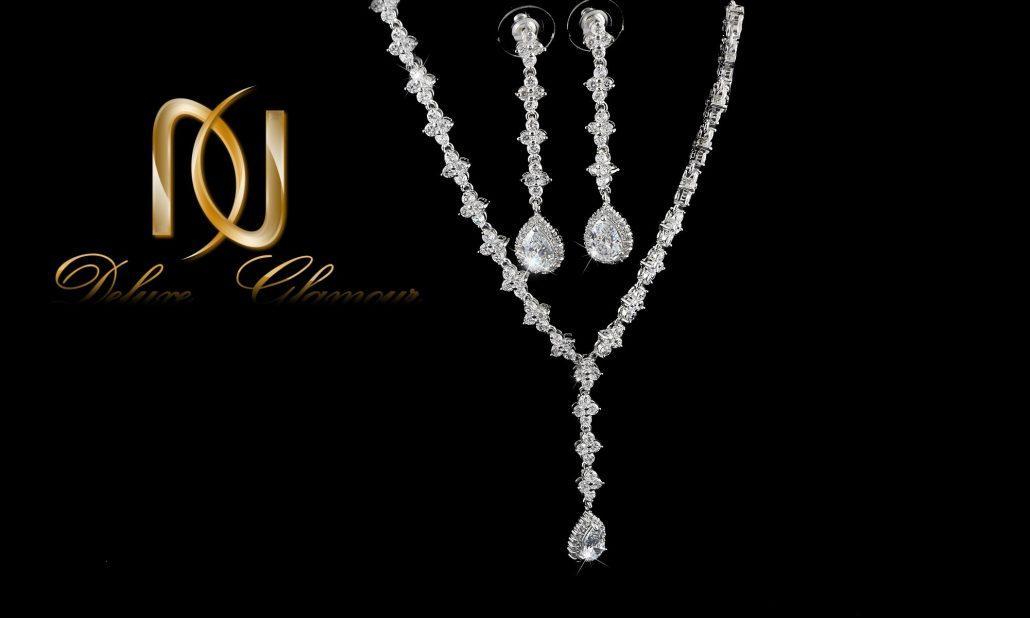 خرید نیم ست جواهري عروس کلیو با کریستالهای سواروسکی Ns-n202 - عکس اصلی