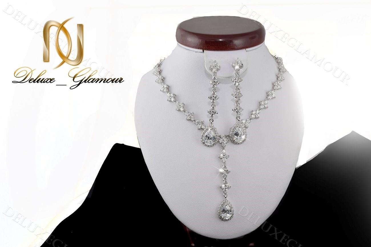 نیم ست جواهري عروس کلیو با کریستالهای سواروسکی Ns-n202 (3)