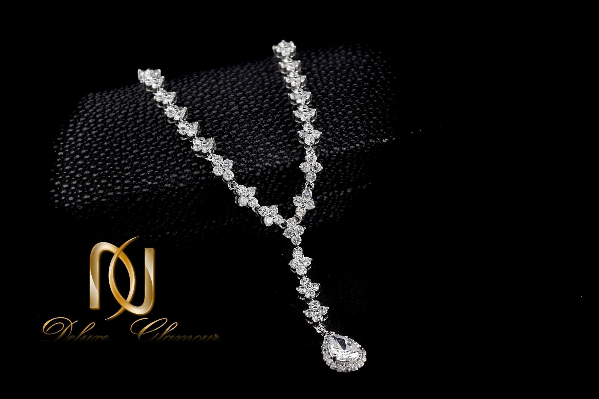 نیم ست جواهري عروس کلیو با کریستالهای سواروسکی Ns-n202 (4)