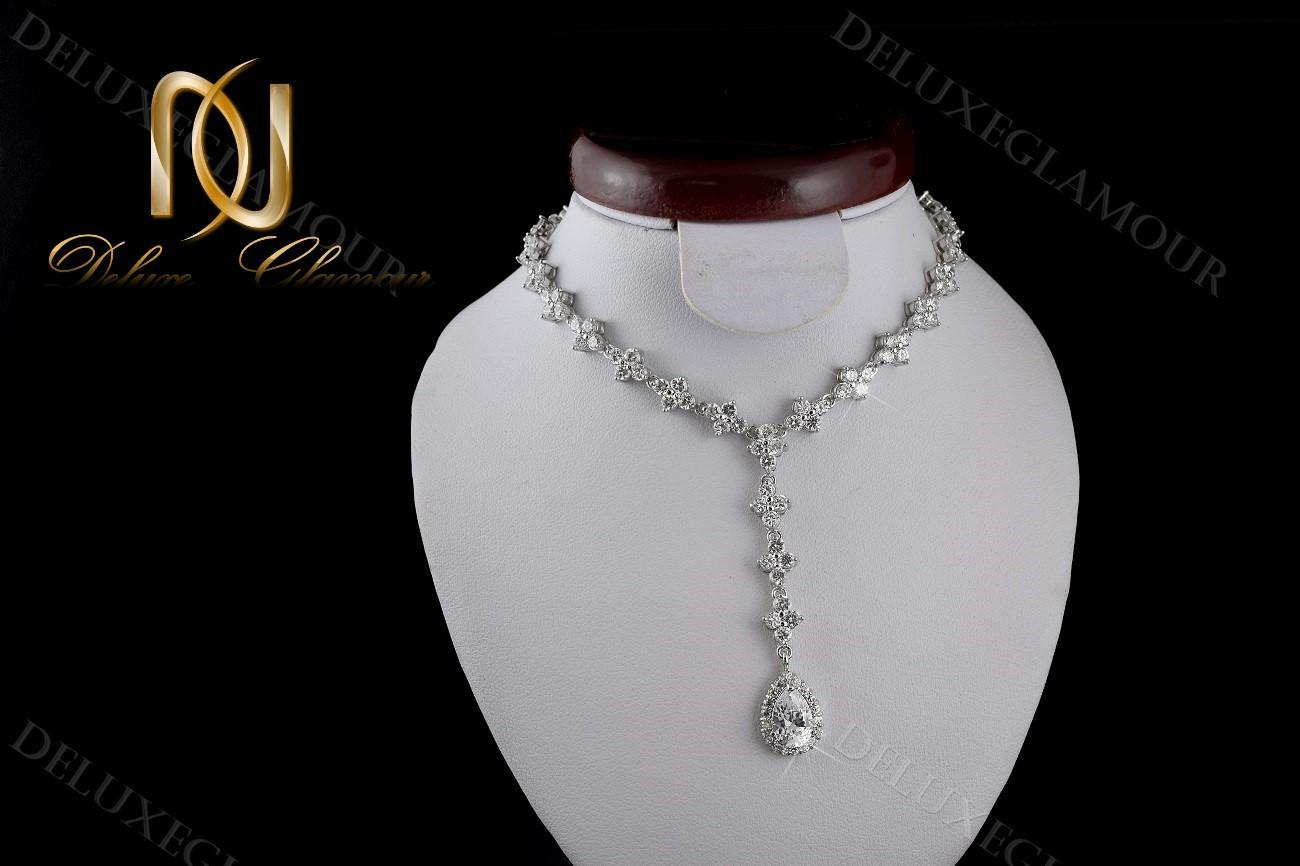 نیم ست جواهري عروس کلیو با کریستالهای سواروسکی Ns-n202 (5)