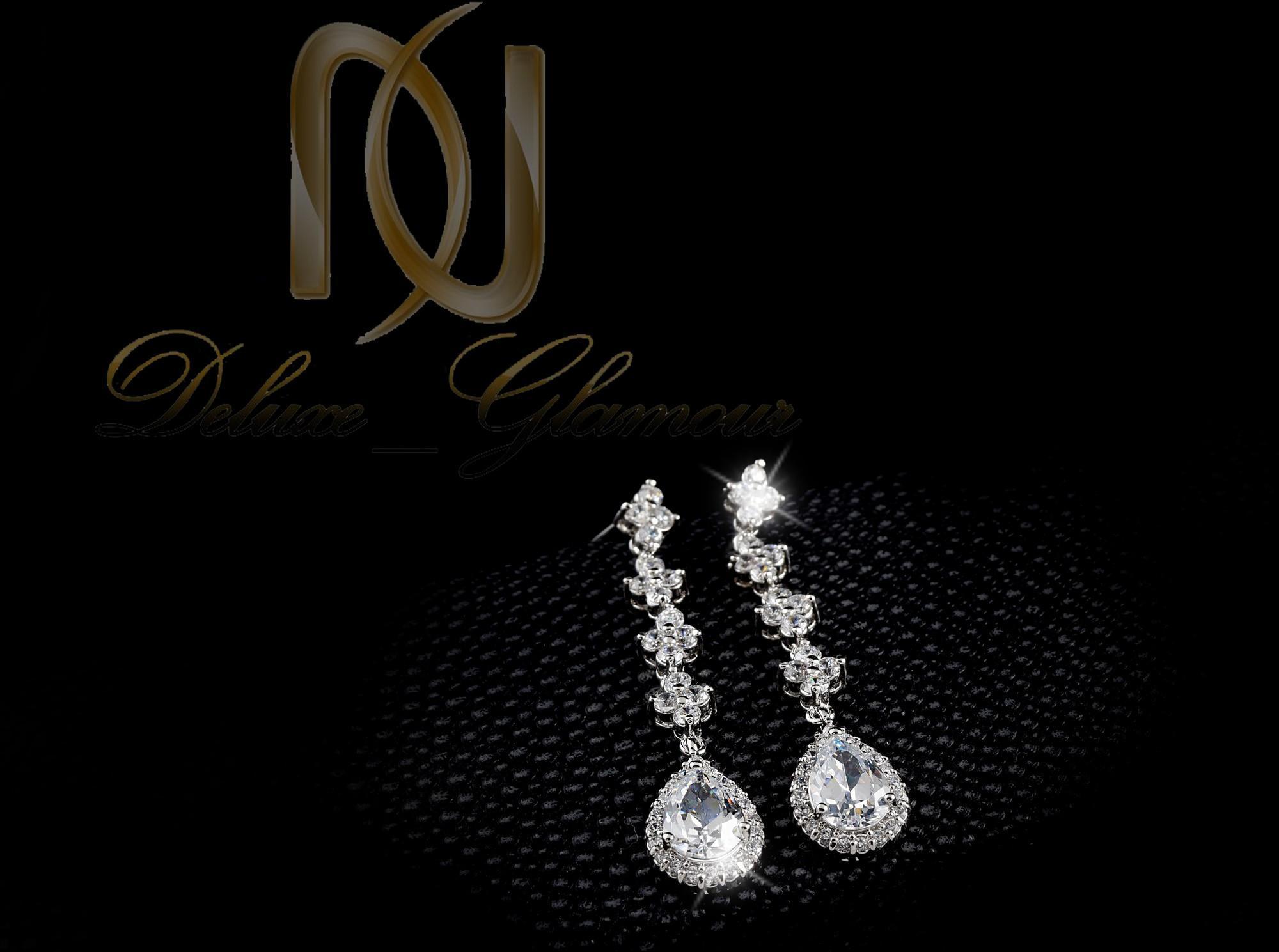 نیم ست جواهري عروس کلیو با کریستالهای سواروسکی Ns-n202 (6)