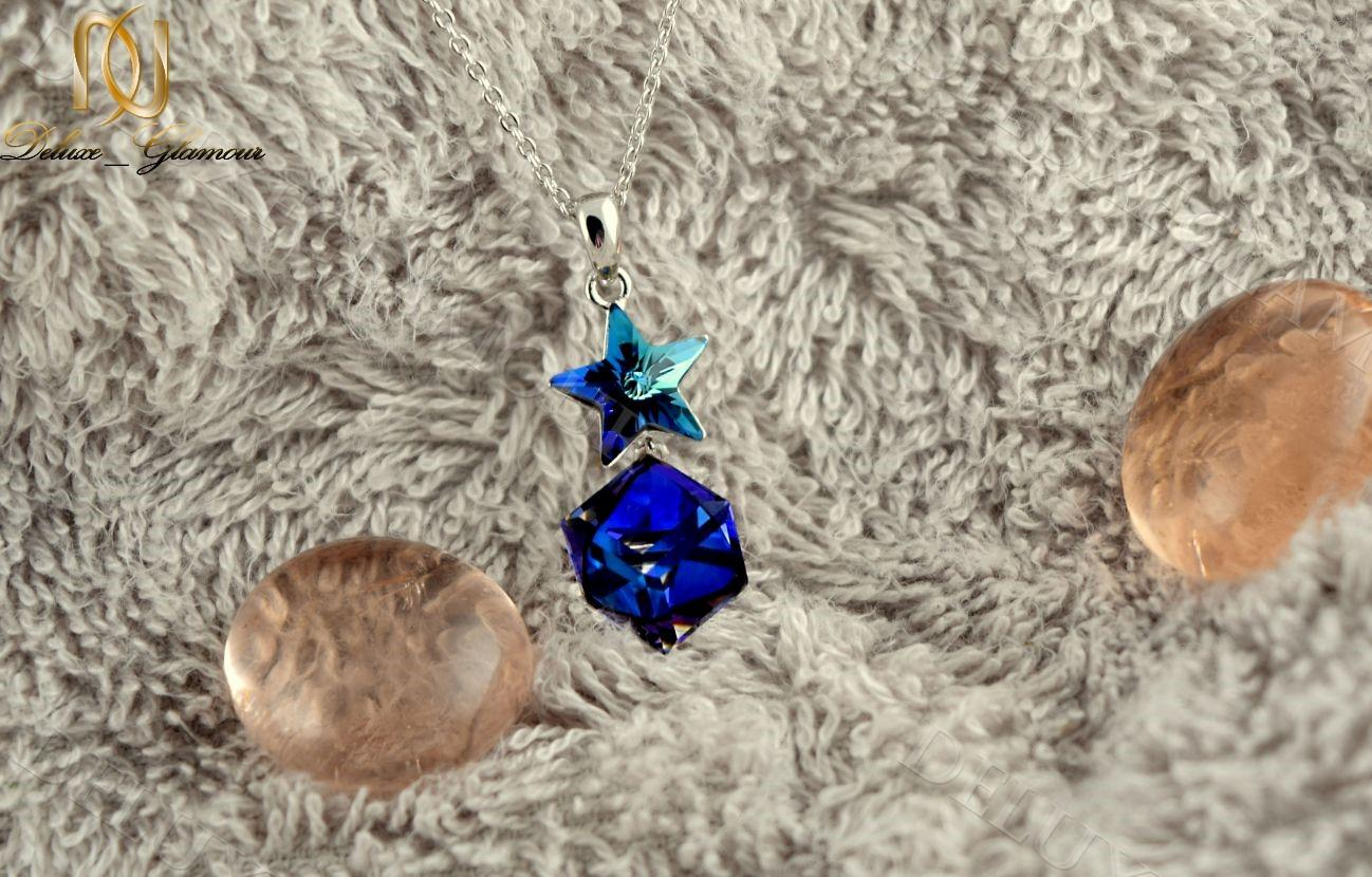 گردنبند دخترانه طرح ستاره با نگین هفت رنگ سواروسکی Nw-n228 (1)