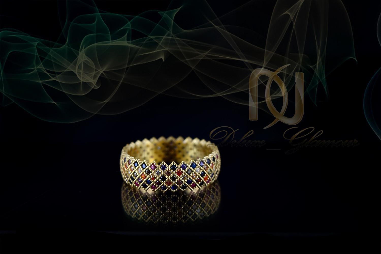 انگشتر دخترانه شیک نقره با نگینهای رنگارنگ Rg-n266 (3)