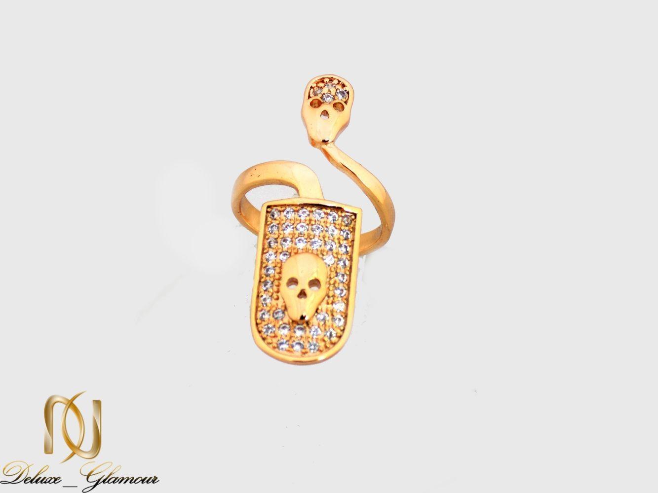 انگشتر روناخنی ژوپینگ طلایی با نگین زیرکونیا rg-n269 از نمای دور