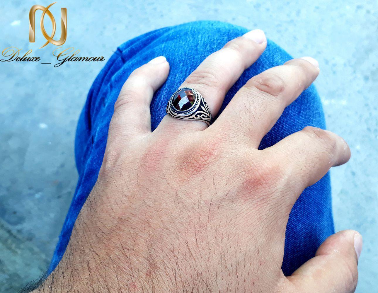 انگشتر مردانه نقره 925 با نگین عقیق سرخ rg-n248