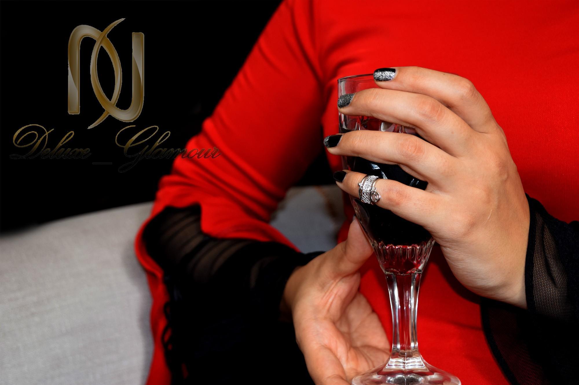 بند انگشتی دخترانه آویزدار کلیو با کریستال سواروسکی Rg-n251 - روی دست
