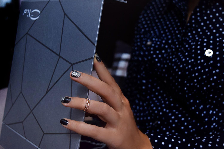 بند انگشتی دخترانه رزگلد کلیو طرح دوردیفه Rg-n246 - روی دست