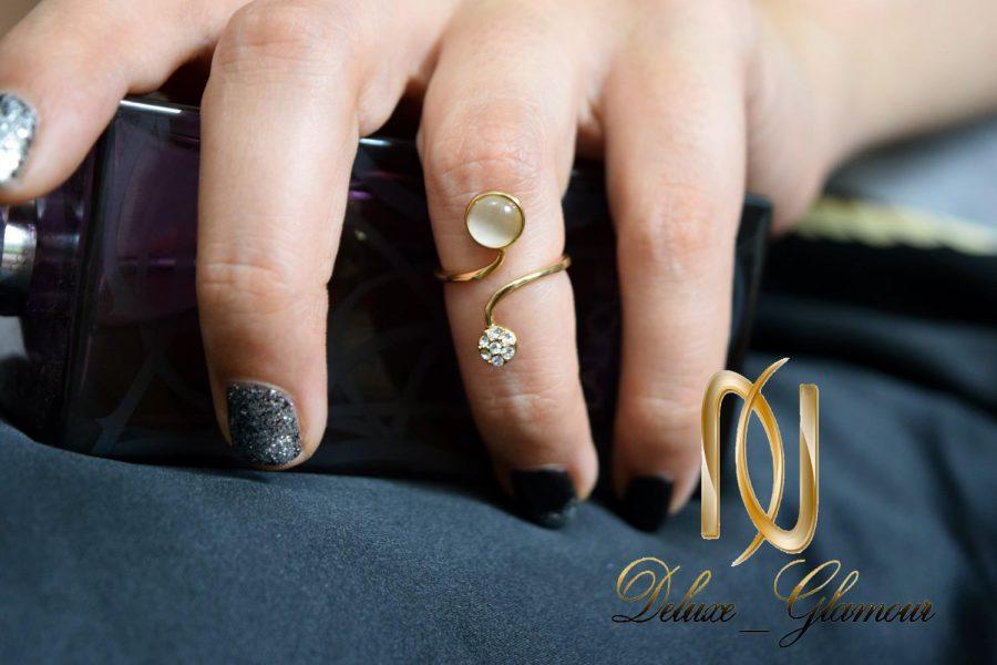 بند انگشتی طرح ماری کلیو با سنگ اوپال سواروسکی Rg-n250