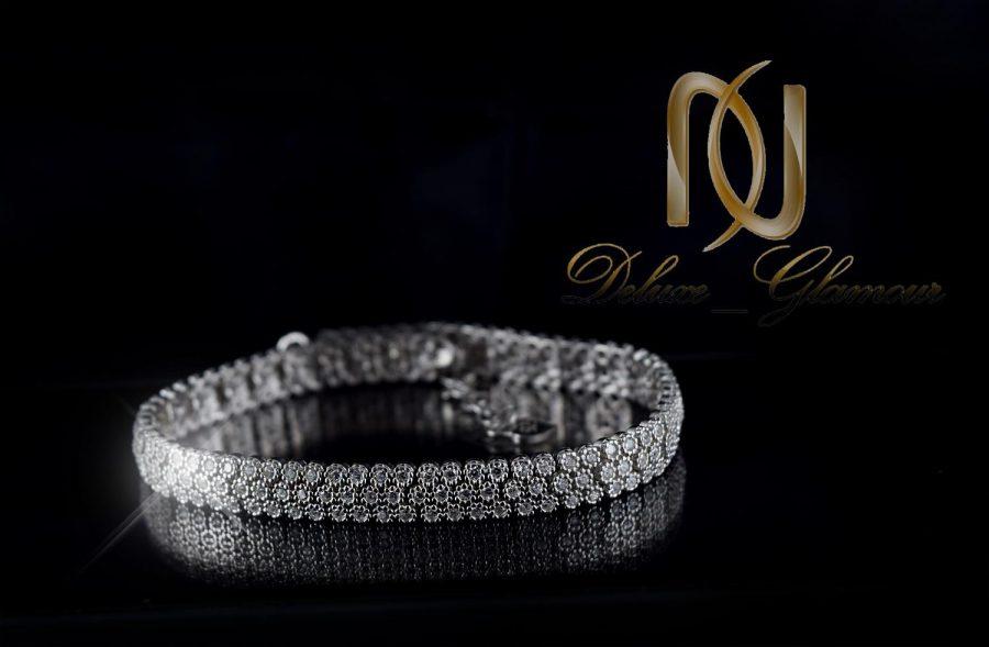 دستبند بند ساعتی ظریف نقره زنانه جواهر DS-N242