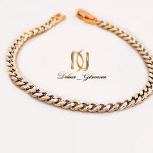 دستبند دخترانه ژوپینگ دو رنگ طرح کارتیر ds-n250 از نمای روبرو