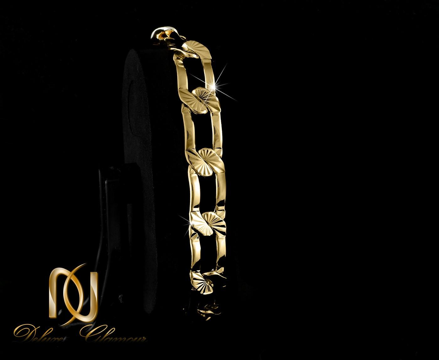 دستبند زنانه ژوپينگ طرح طلاي كارتيه DS-N260 از نماي مشكي