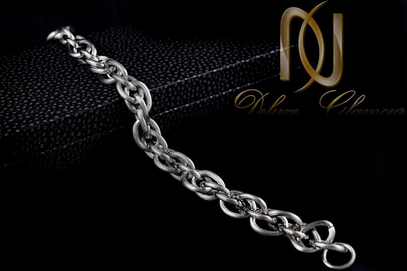 خرید دستبند مردانه زنجیری استیل مات Ds-n251 - عکس اصلی