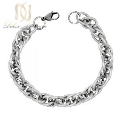 دستبند مردانه زنجیری استیل مات Ds-n251 - عکس زمینه سفید