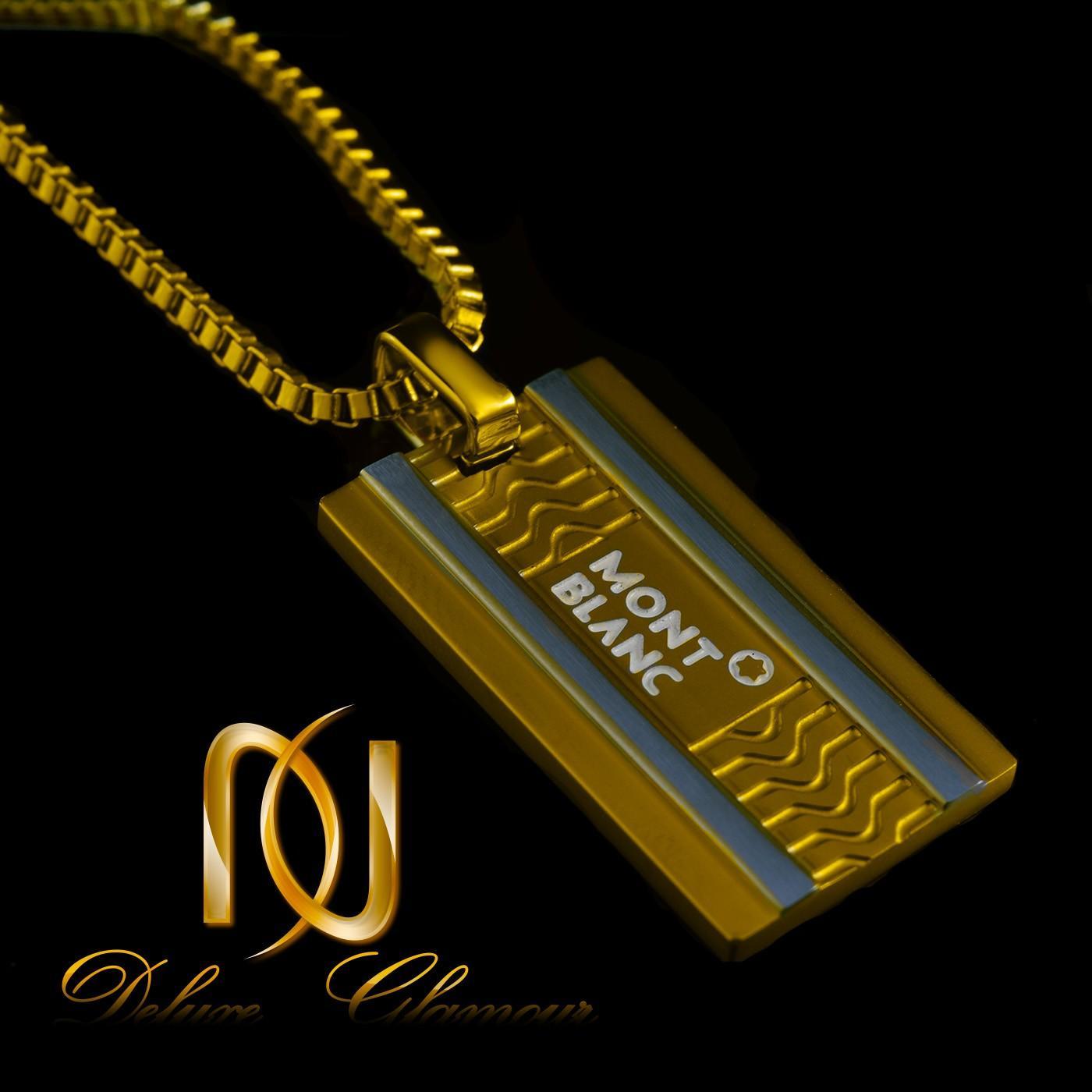 ست دستبند و گردنبند مردانه چرم و استیل ns-n215 از نمای مشکی