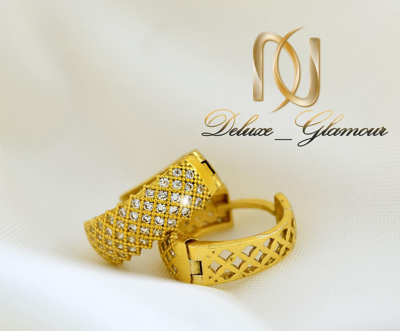 نیم ست نقره پرنس طلایی گوشواره و گردنبند ns-n209