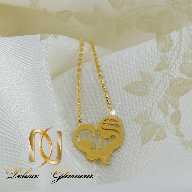 گردنبند زنانه استیل طلای طرح مادر و فرزند nw-n258
