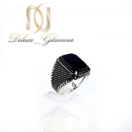 انگشتر مردانه نقره اسپرت با نگین عقیق rg-n300 از نمای روبرو