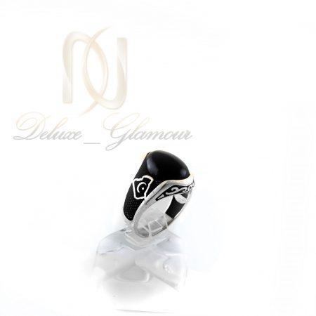 انگشتر مردانه نقره با سنگ عقیق مشکی rg-n289