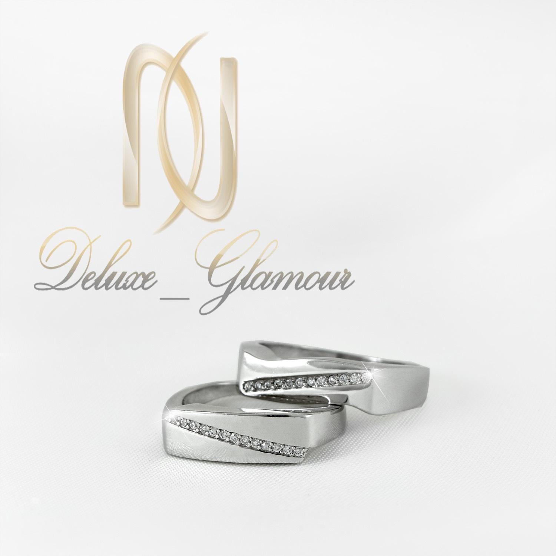 حلقه ست نقره تایلندی با نگین برلیان rg-n304 از نمای سفید