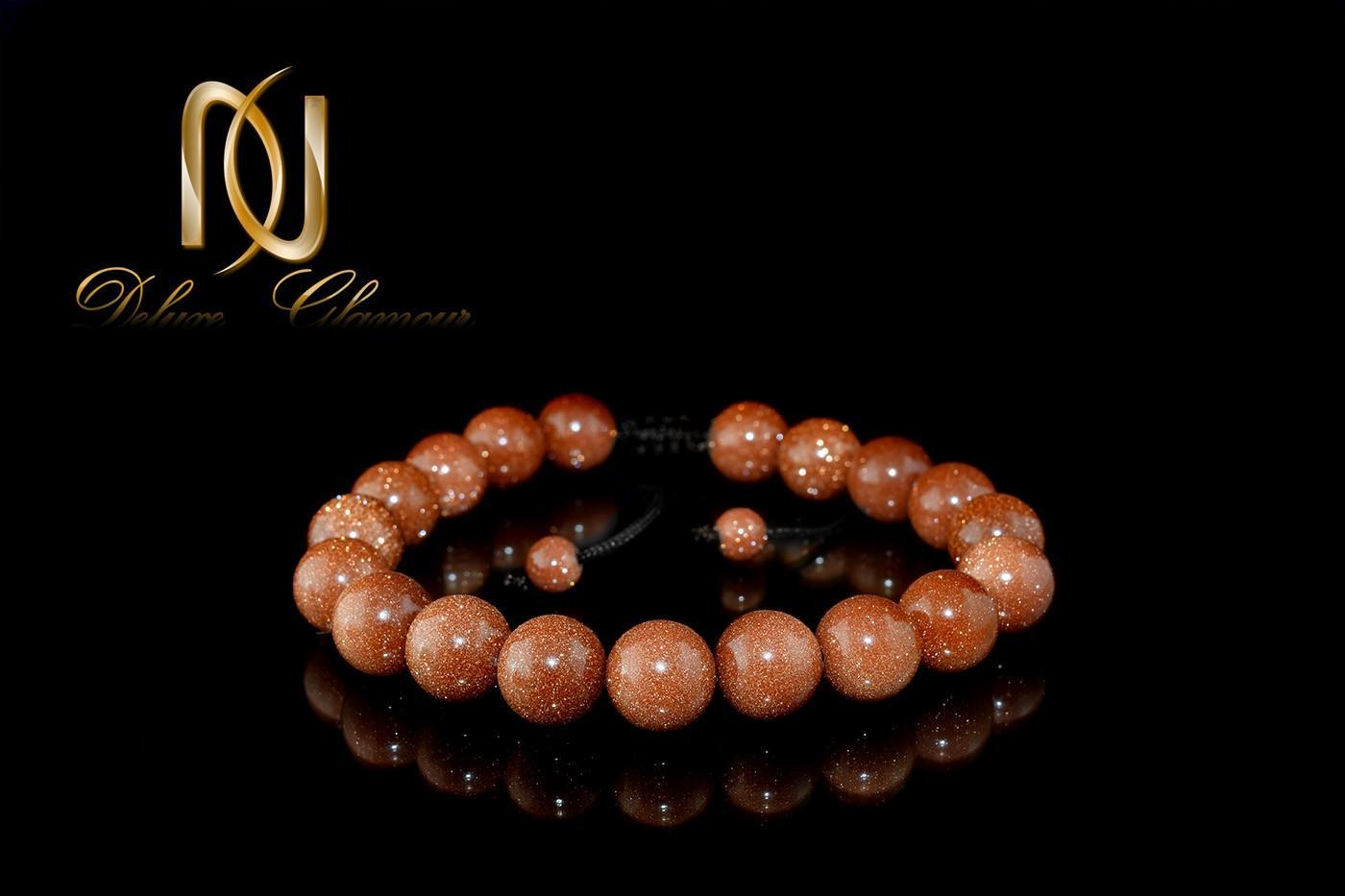 دستبند دخترانه اسپرت با سنگ عقیق دلربا ds-270 از نمای مشکی