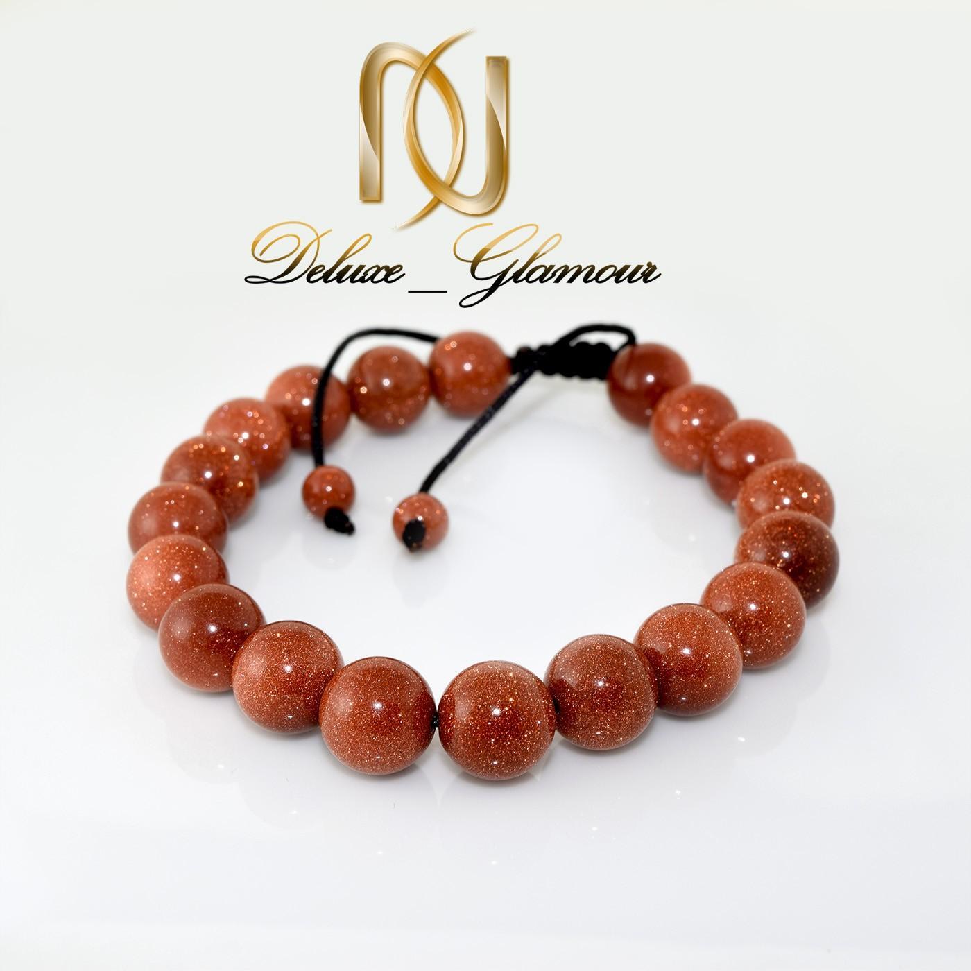 دستبند دخترانه اسپرت با سنگ عقیق دلربا ds-270 از نمای روبرو