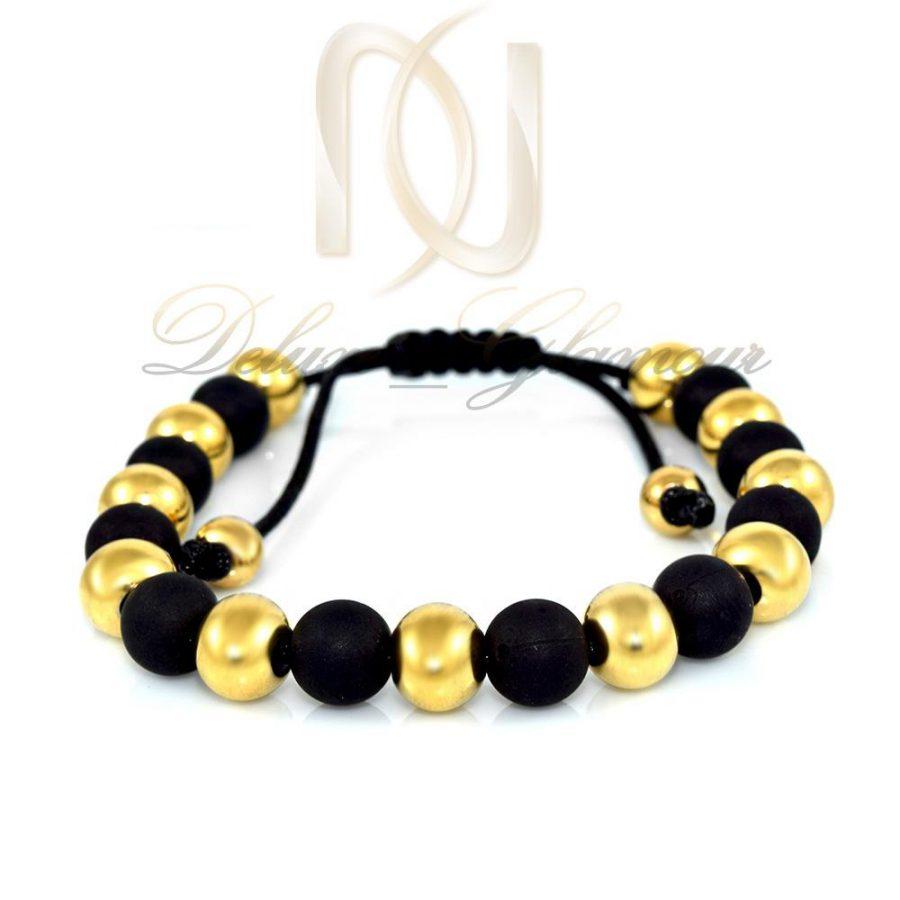 دستبند دخترانه سنگ اونيكس مات ds-n283