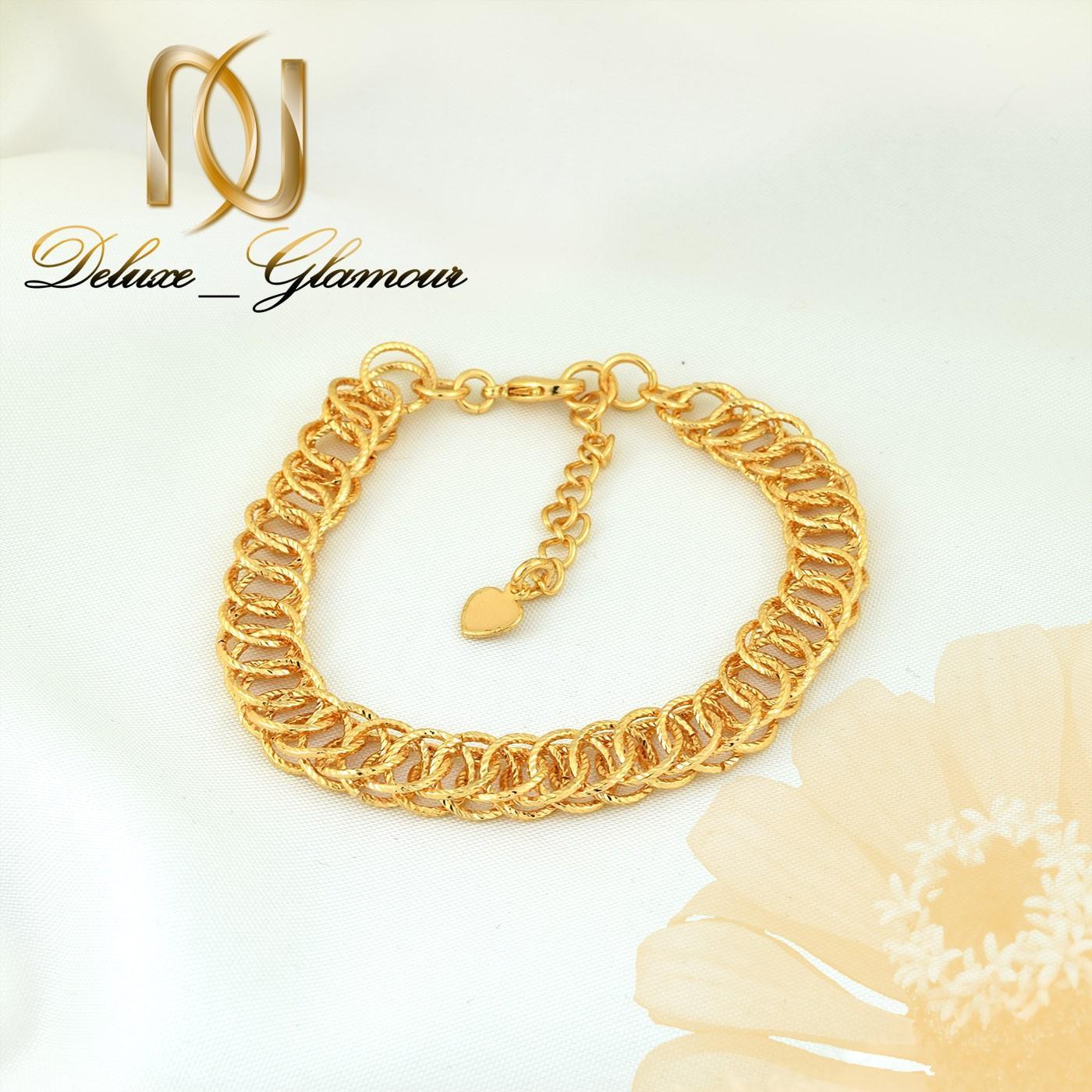 دستبند زنانه استیل طرح طلای زنجیری 22 سانتی DS-N261