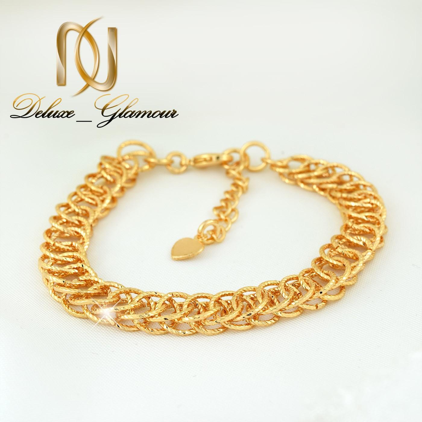 دستبند زنانه استیل طرح طلای زنجیری 22 سانتی DS-N261 از نمای پایین