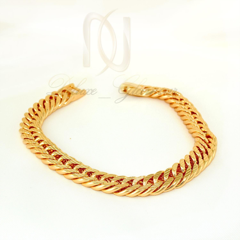 دستبند زنانه ژوپینگ طرح طلای زنجیری ds-n274 از نمای روبرو