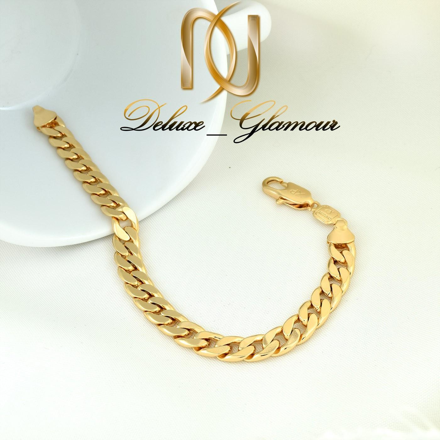 دستبند زنانه ژوپینگ طرح طلای 22 سانتی ds-n264 از نمای بالا