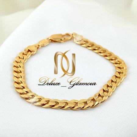دستبند زنانه ژوپینگ طرح طلای 22 سانتی ds-n264 از نمای روبرو