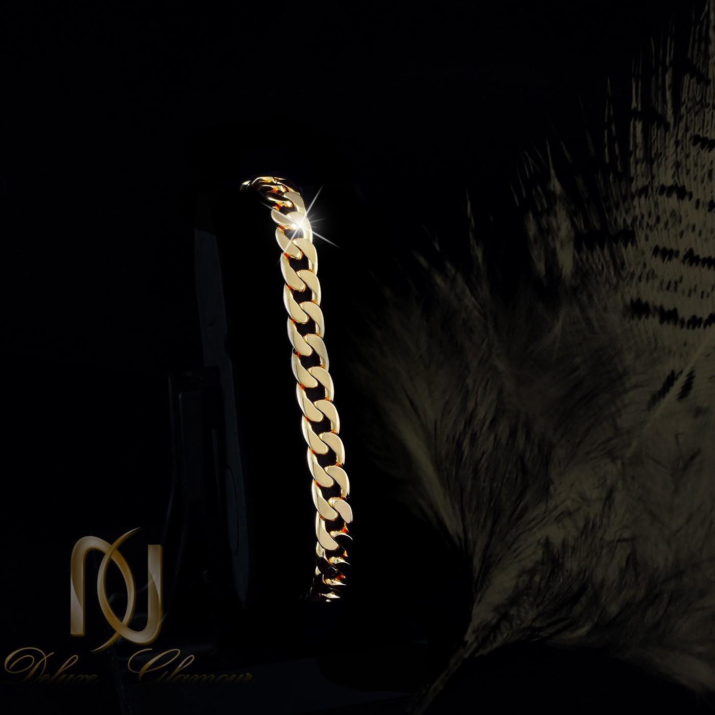 دستبند زنانه ژوپینگ طرح طلای 22 سانتی ds-n264 از نمای مشکی