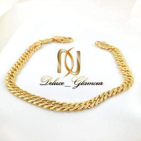 دستبند زنانه ژوپینگ طرح طلا با طول 22 سانتی ds-n266 از نمای نزدیک
