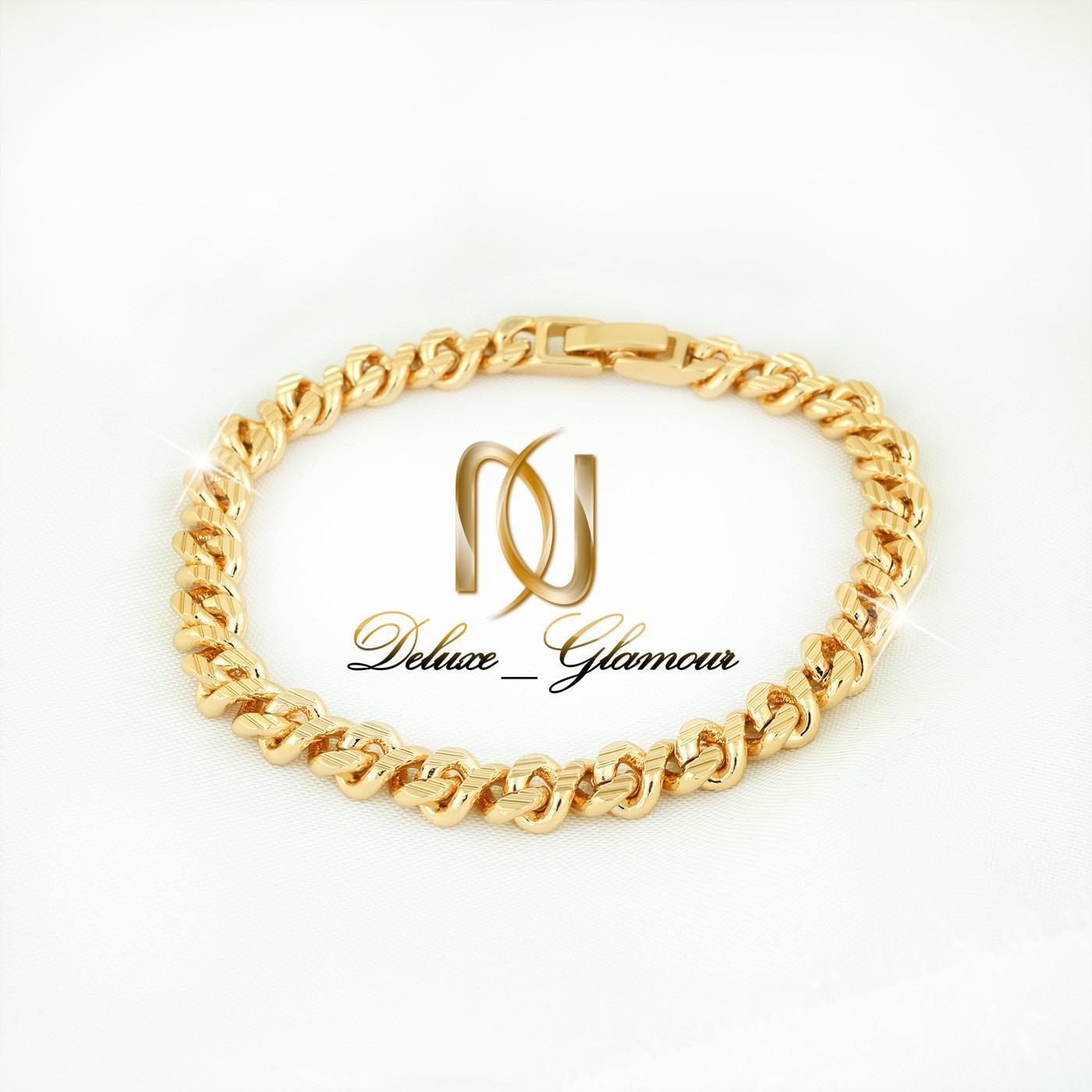 دستبند زنانه ژوپینگ طرح کارتیر شیار دار ds-n267 از بالا و کامل