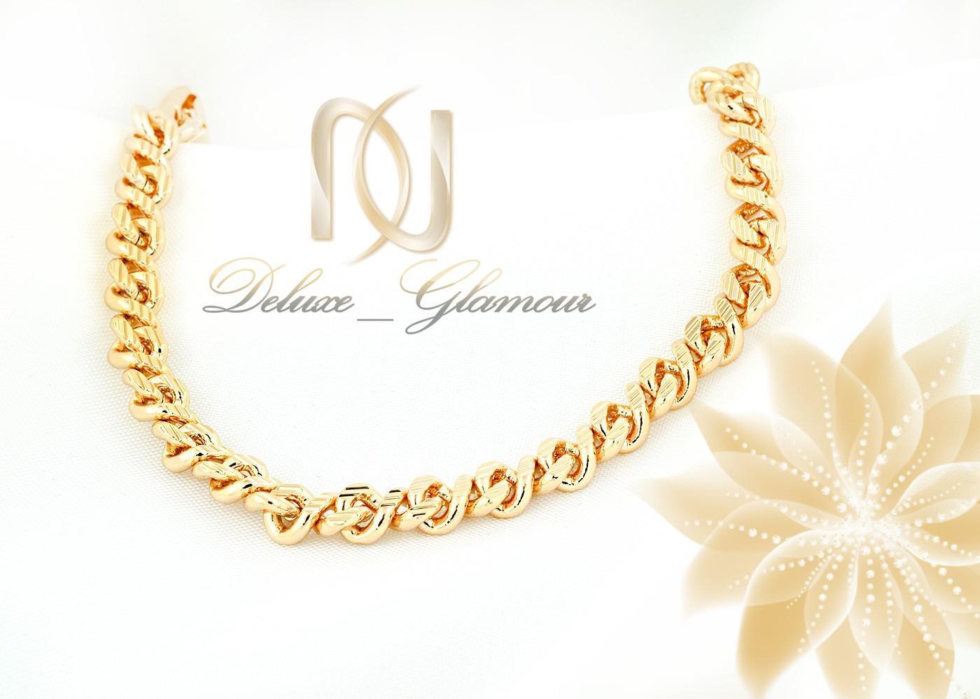 خرید دستبند زنانه ژوپینگ طرح کارتیر شیار دار ds-n267