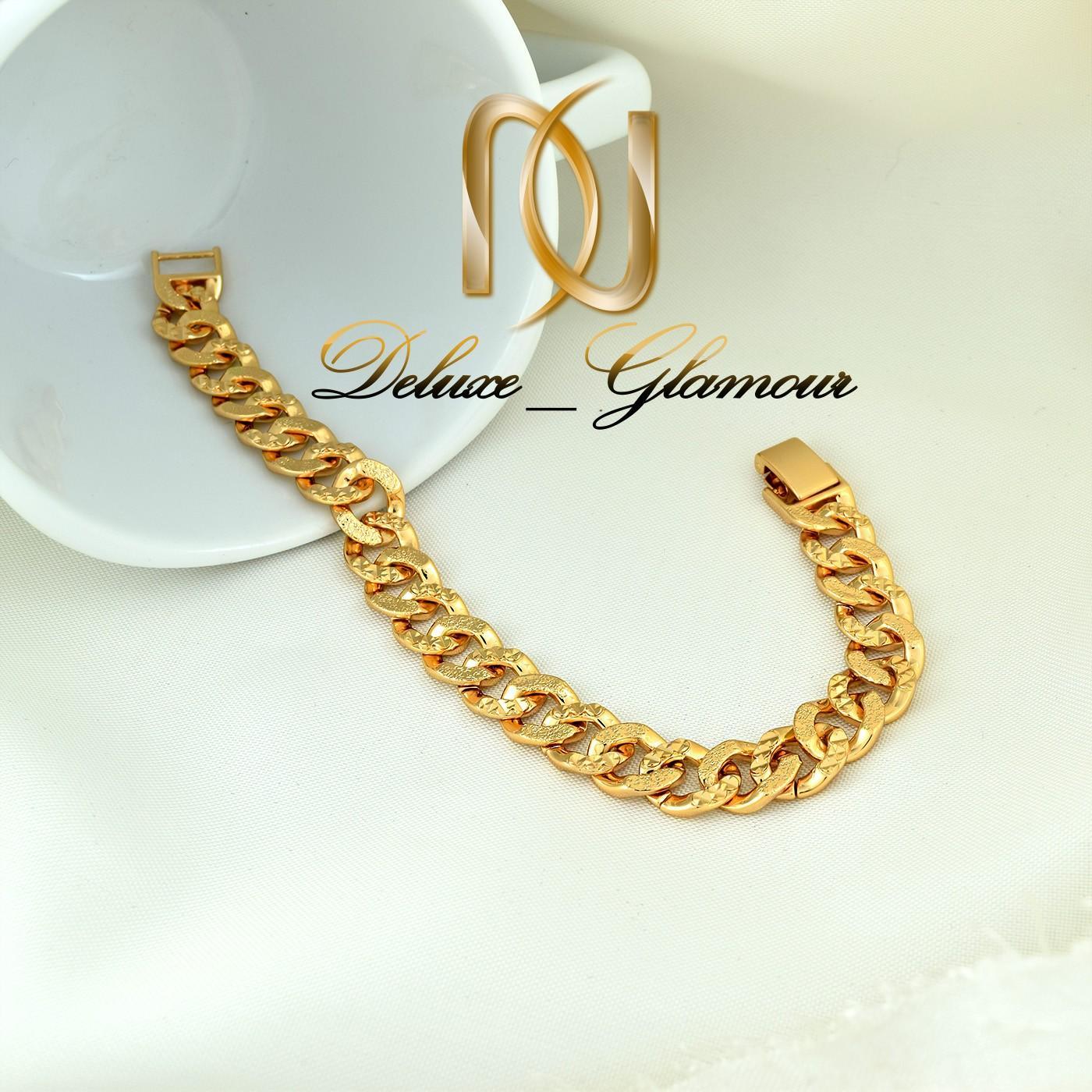 دستبند زنانه ژوپینگ طلایی طرح کارتیر ds-n268 از نمای بالا