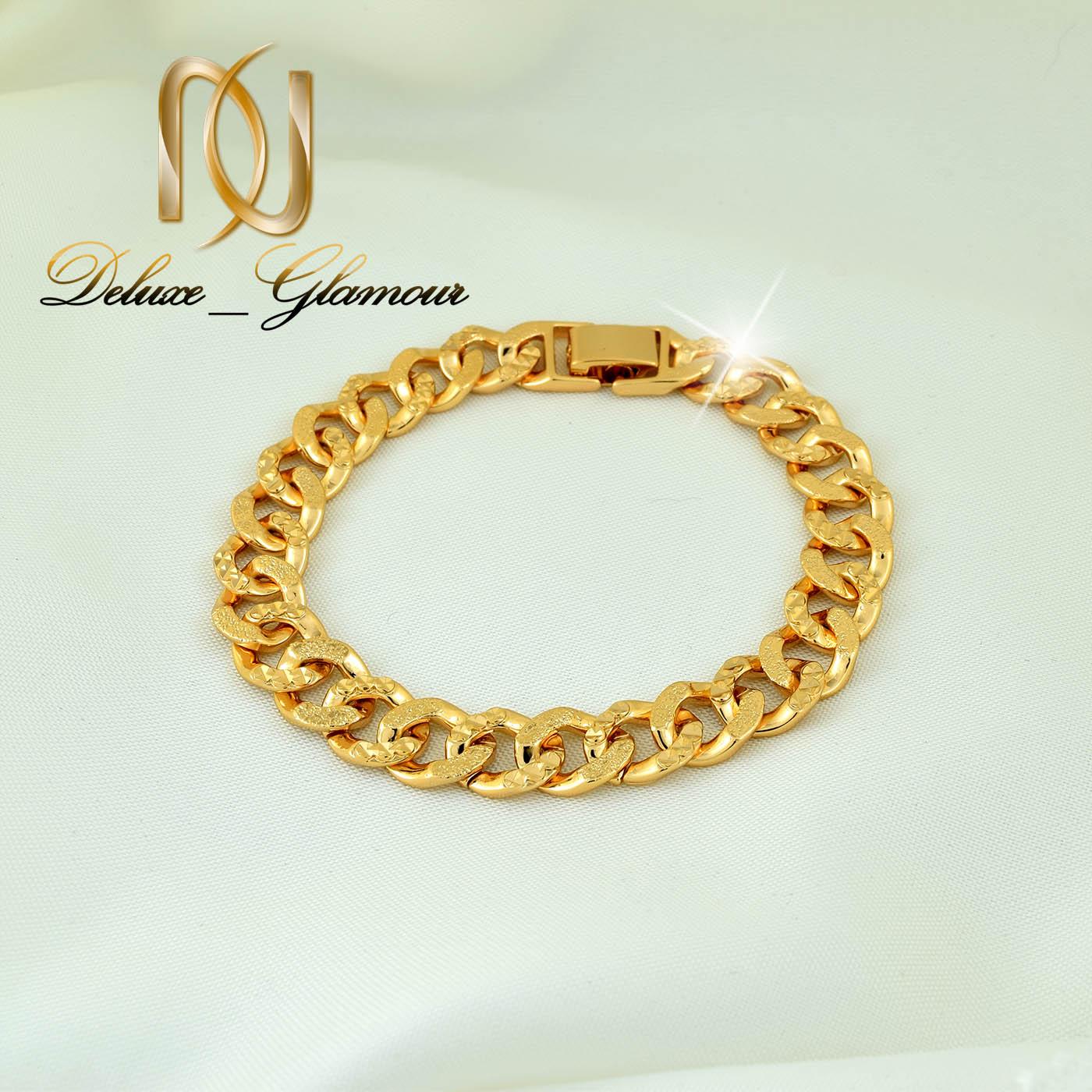 دستبند زنانه ژوپینگ طلایی طرح کارتیر ds-n268 از نمای دور