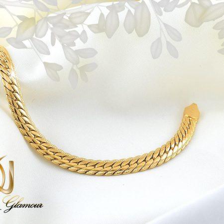دستبند زنانه ژوپینگ طلایی طرح کارتیه ds-n262 از نمای کنار