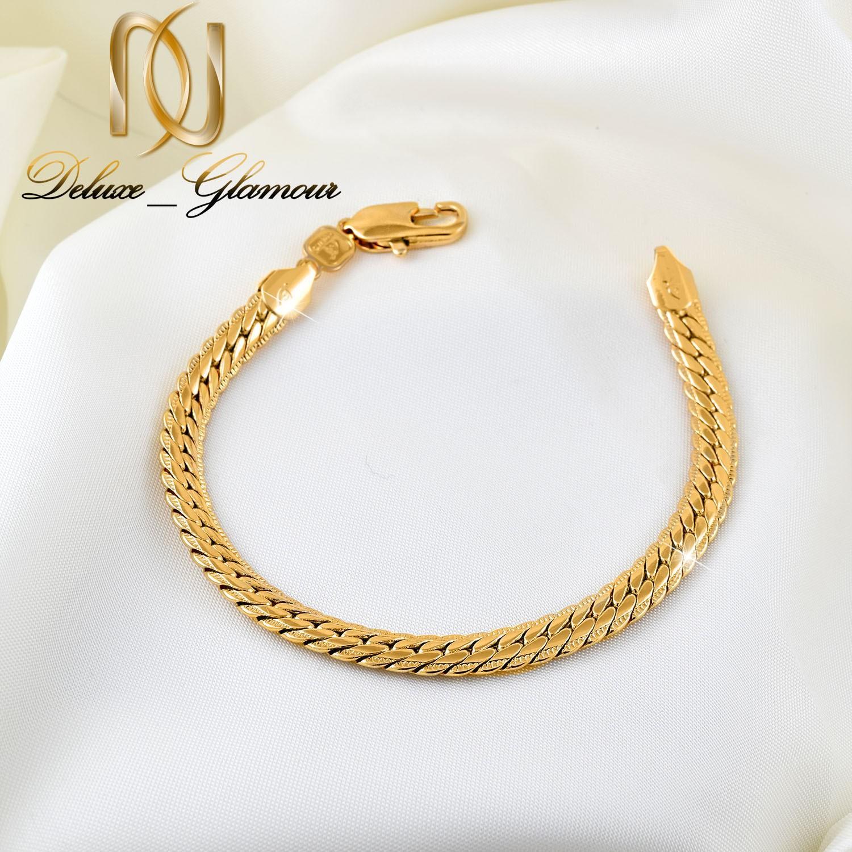 دستبند زنانه ژوپینگ طلایی طرح کارتیه ds-n262از نمای بالا