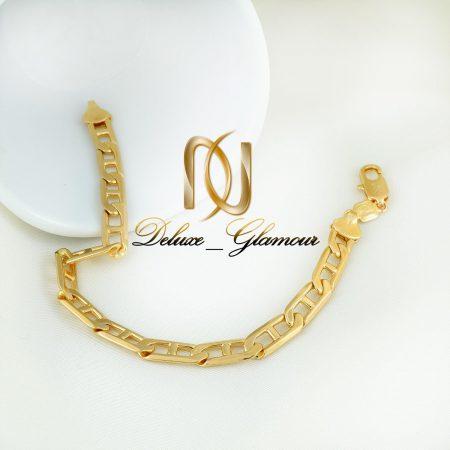 دستبند زنانه ژوپینگ طلایی طرح کارتیه ds-n263 از نمای بالا
