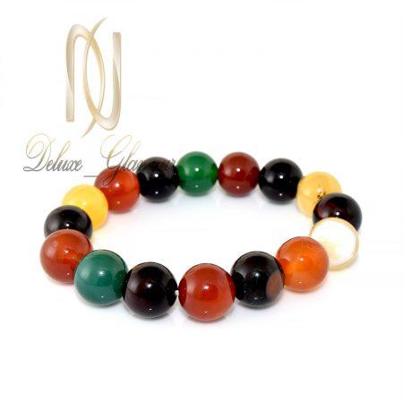دستبند عقیق رنگارنگ دخترانه اصل Ds-n272