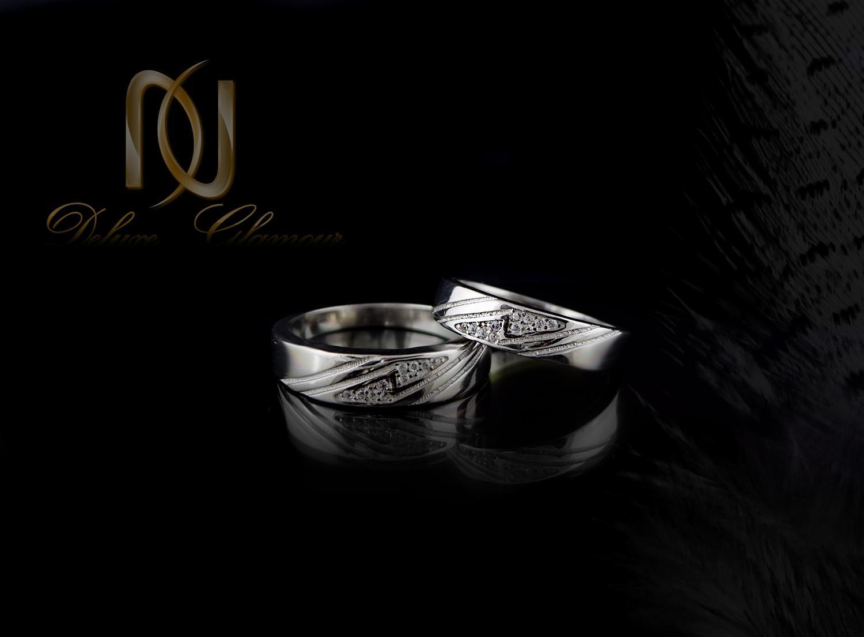 ست حلقه نقره تایلندی با نگین برلیان اتمی RG-N302