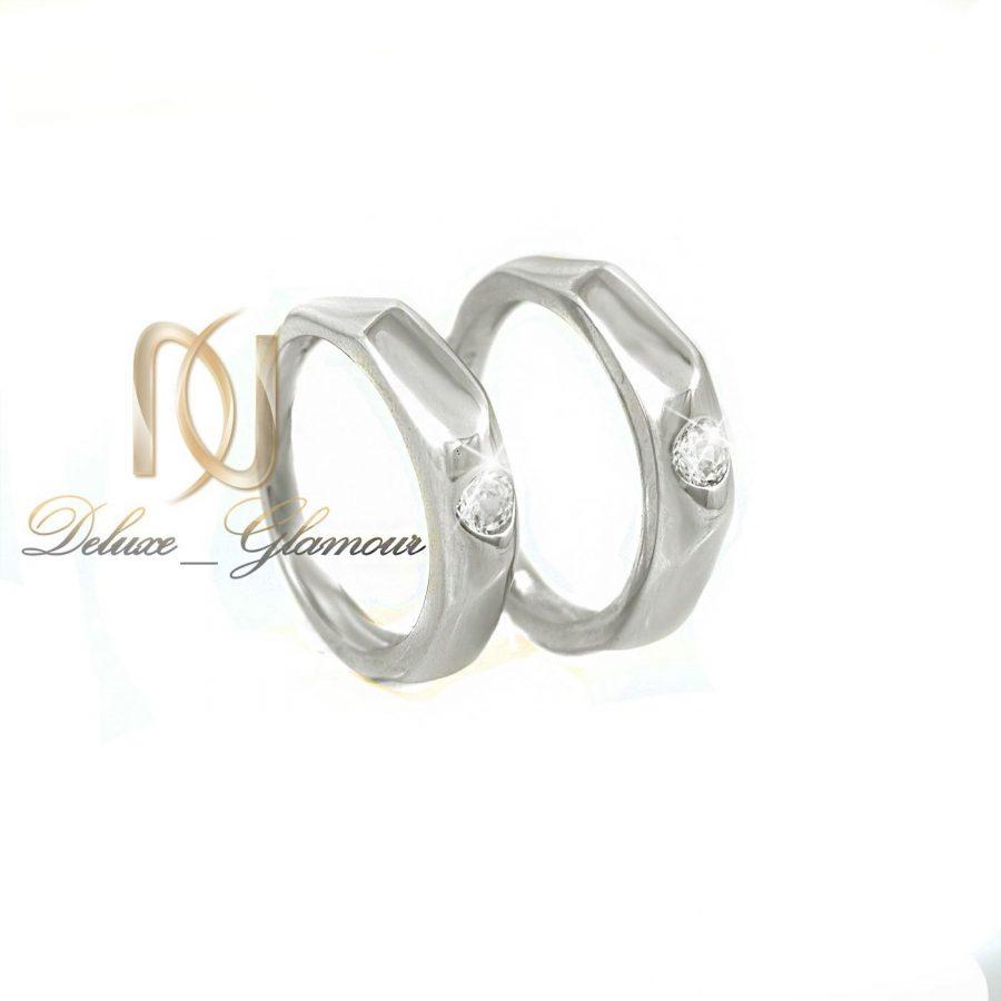 ست حلقه نقره تایلنید با نگین سفید بریلان اصل rg n 3 | ست حلقه نقره تایلندی با نگین سفید برلیان اصل rg-n274