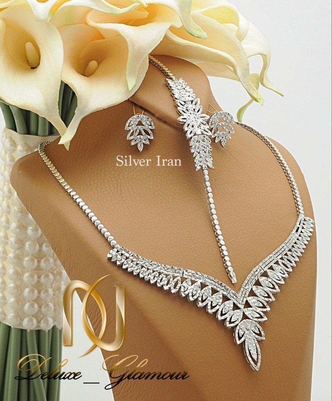 سرویس عروس نقره تراش طرح خوشه Ns-n226 - عکس اصلی