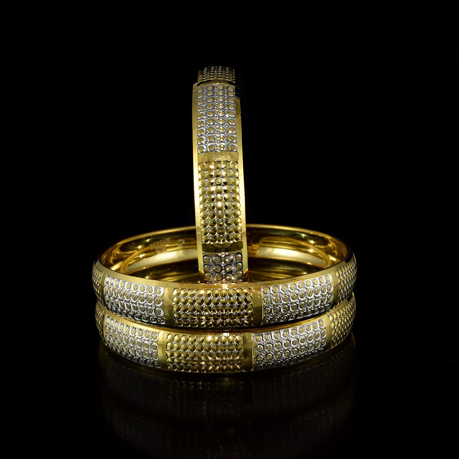 النگو نقره زنانه دو رنگ طرح طلا al-n106