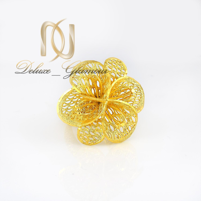 انگشتر نقره  زنانه طلایی طرح فیوژن rg-n310