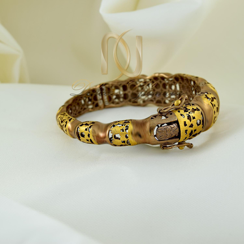 دستبند زنانه نقره پرستیژ دو رنگ ds-n294 (2)