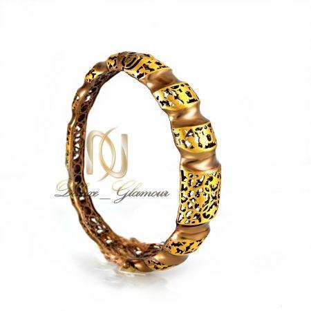 خرید دستبند زنانه نقره پرستیژ دو رنگ ds-n294 (3) از روبرو
